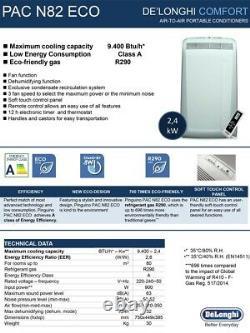 Climatiseur Portable De'longhi Pac N82 Eco 9400 Btu