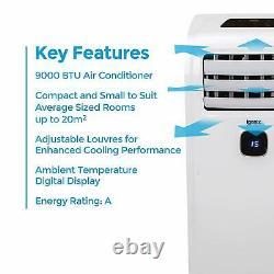 Climatiseur Portable Igenix Ig9911 9000btu Avec Refroidissement, Ventilateur Et Déshumidificateur