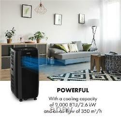 Climatiseur Portable Klarstein 3-en-1 9 000 Btu / 2,6 Kw Noir