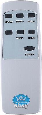 Climatiseur Portable Portable Prem-i-air 9000 Btu Avec Télécommande + Minuterie Eh1806