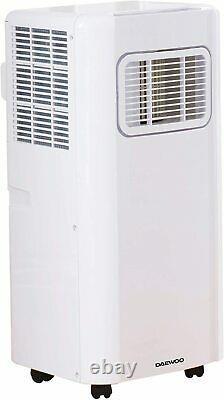 Daewoo 3in1 Btu 5000 Unité De Climatisation Portable Avec Télécommande Blanche