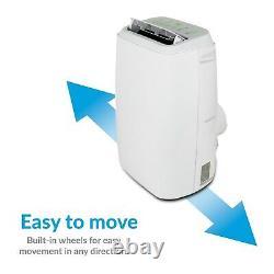 Electriq 16000 Btu 4,6 Kw Climatiseur Portable Avec Pompe À Chaleur Jusqu'à 42 M2
