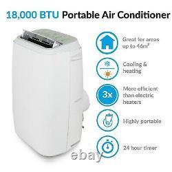 Electriq 18000 Btu 5.2kw Climatiseur Portable Avec Pompe À Chaleur Pour Les Chambres Jusqu'à