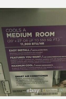 Ge 12000 Btu Smart Window Climatiseur, 550 Sq Ft Chambre Home Wifi Ac 115v Unit