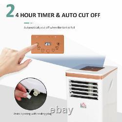 Homcom 10000 Btu Climatiseur Portable 4 Modes Minuterie D'affichage Led