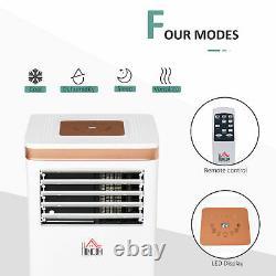 Homcom 7000 Btu Climatiseur Portable 4 Modes Led Display Timer Home Office