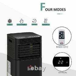Homcom 7000btu Climatiseur Portable 4 Modes Affichage Led Minuterie À Domicile