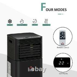 Homcom 8000 Btu Climatiseur Portable 4 Modes Affichage Led Minuterie