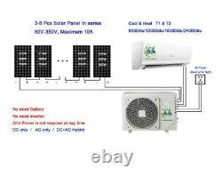 Jntech 24000btu Solar Acdc Onduleur Ductless Mini Split Air Conditioner & Heater