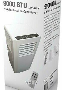 Prem-i-air 9000btu Par Heure Mobile Portable Air Conditioner Con + Télécommande