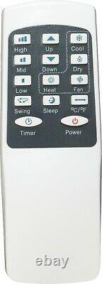 Premiair White 5000 Btu Conconditionneur D'air Local Portable Et Télécommande
