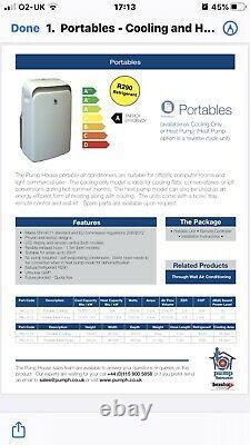 Pump House Climatisation Portable Grande Capacité 12000btu. Vendeur Au Royaume-uni