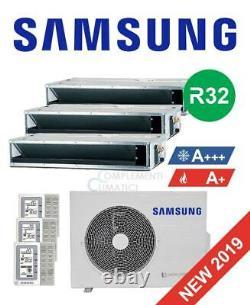 Samsung Air Conditioning Duduct Trial 9+9+9 Btu R32 Aj052rcj3eg 2019