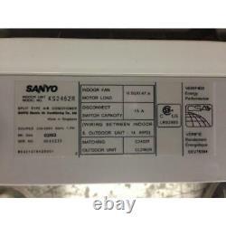 Sanyo Ks2462r 27 000 Btu Mini-réchauffeur D'air Intérieur, 13 Seer R-410a