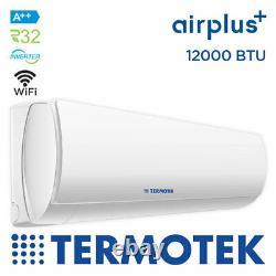 Termotek Airplus C12 Climatiseur 12000 Btu Onduleur A++ Wifi Prêt R32